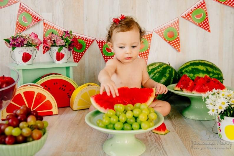 Fotografia ensaio smash the fruit por Jéssica Nery